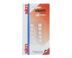 AIMANTS 9MM ARGENT MAPED